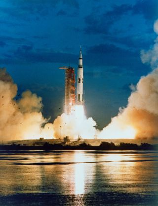 The Saturn V first launched on Nov. 8, 1967, carrying the uncrewed Apollo 4 mission.