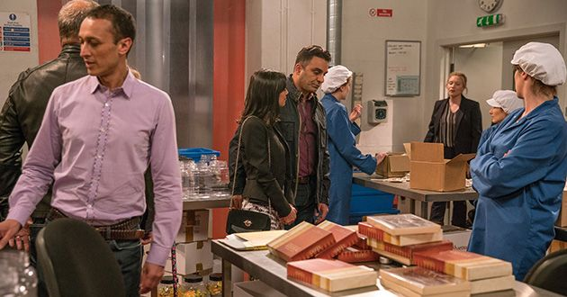 The police arrive at the factory to question Rakesh Kotecha. Will Rakesh manage to get out of this in Emmerdale.