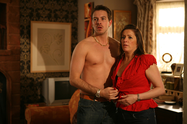 Suzanne and Darren are caught in the act!