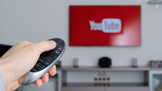 YouTube on a TV