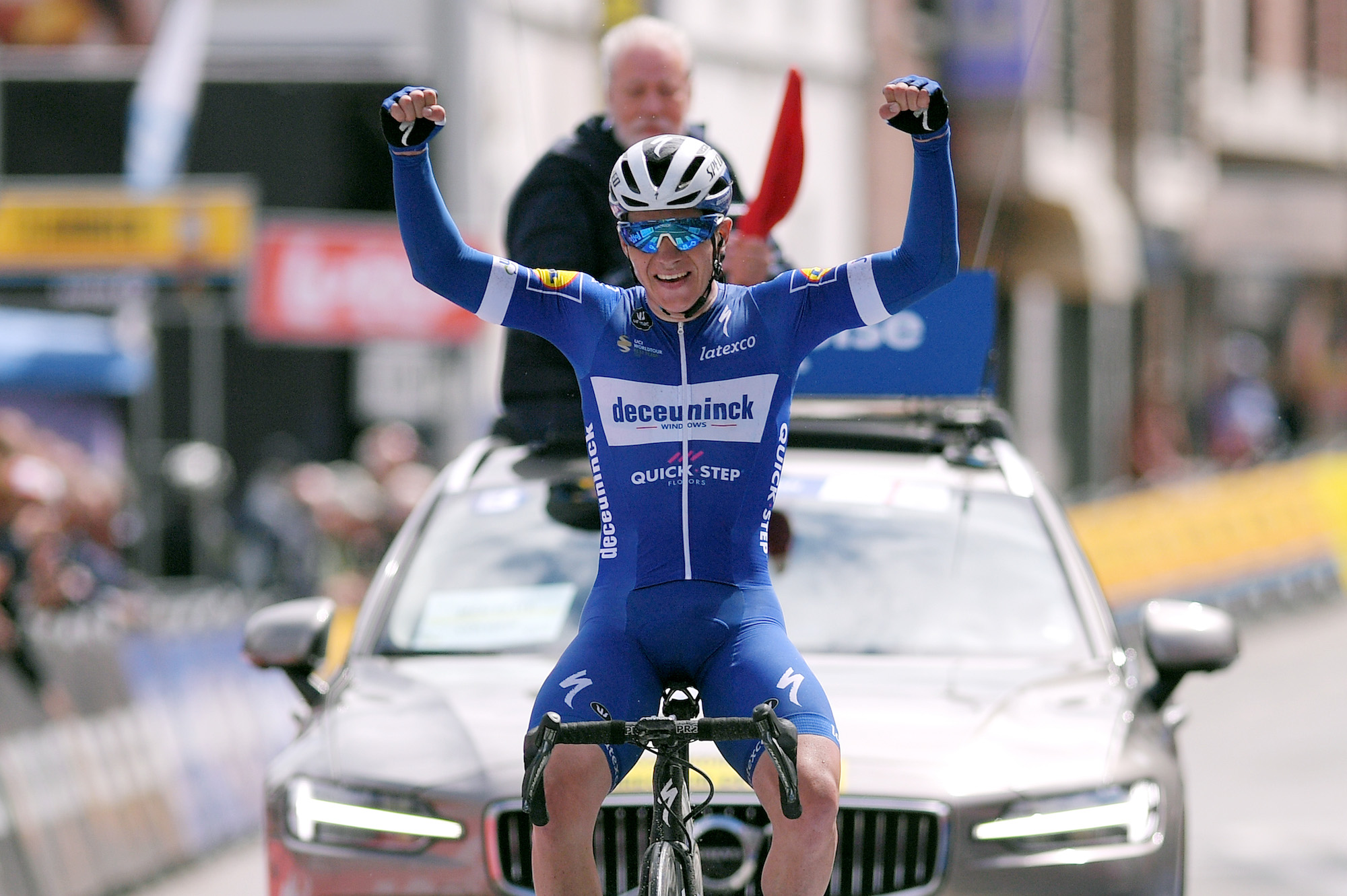 remco evenepoel lives up to hype with first pro win at belgium tour