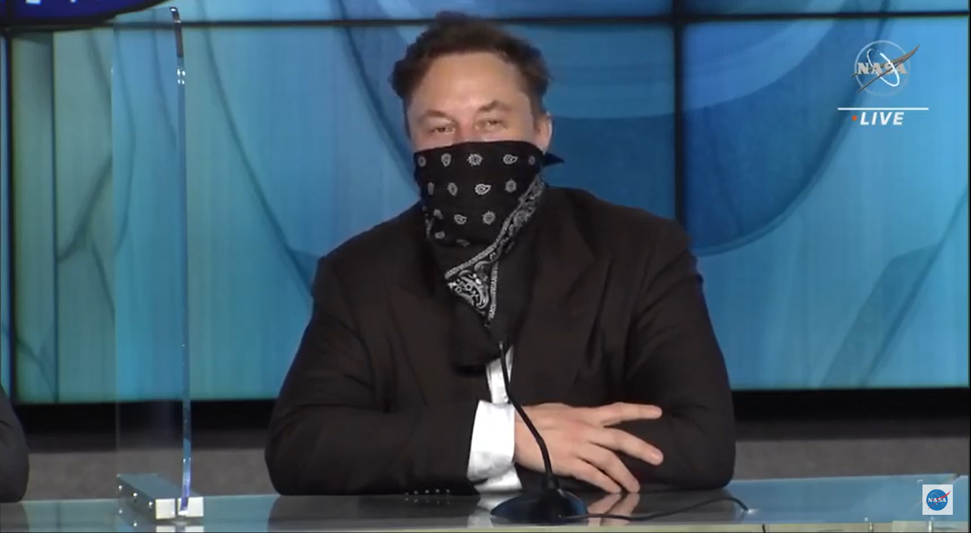 SpaceX founder Elon Musk answered questions during a news conference held on April 23, 2021.