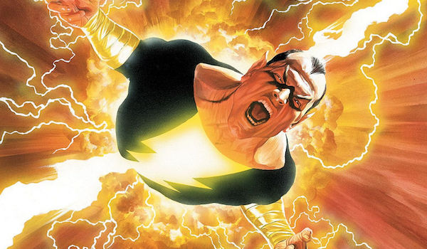 Black Adam filled with power