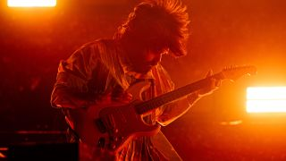 Simon Neil of Biffy Clyro, during the band's headline set at Reading Festival in the UK last weekend