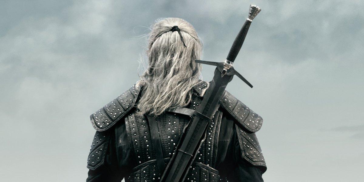 the witcher season 1 geralt of rivia back sword netflix