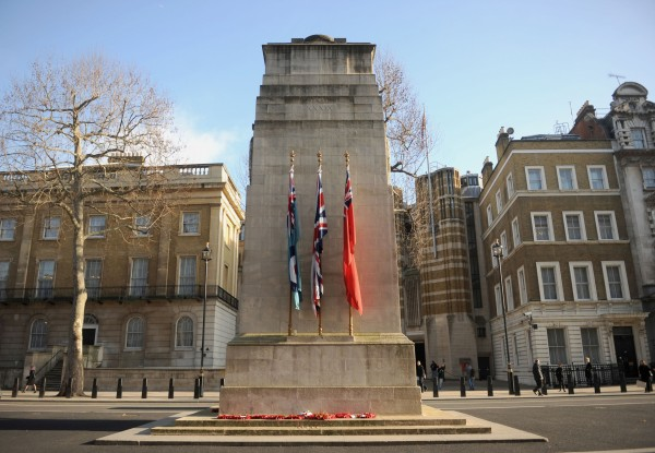 The Cenotaph war memorial in central London