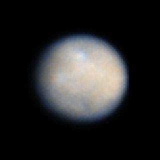 The dwarf planet Ceres, also the largest asteroid in the solar system, is seen here in an amazing view from the Hubble Space Telescope. In March 2015, NASA's Dawn spacecraft is expected to enter orbit around Ceres to study the object like never before.