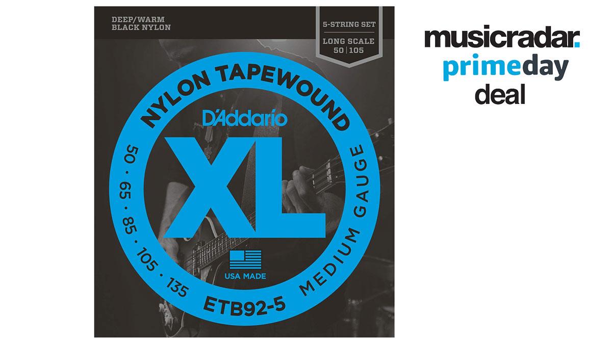 50-135 D/'Addario ETB92-5 Nylon Tapewound 5-String Bass Strings Medium