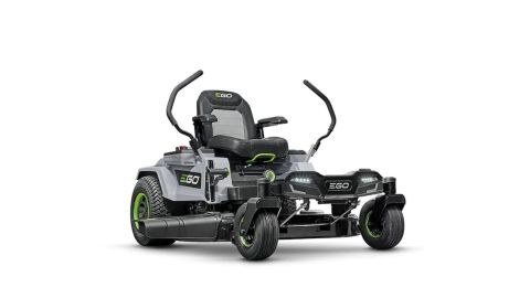 EGO POWER ZT4204L riding lawn mower review: picture of riding lawn mower straight on