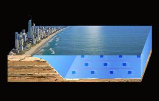 ocean energy turbine farm