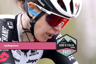 MUR DE HUY, BELGIUM - APRIL 21: Amanda Spratt of Australia and Team BikeExchange on arrival during the 24th La Fleche Wallonne 2021, Women Elite a 130,2km race from Huy to Mur de Huy 204m / #FlecheWallonne / #FWwomen / #UCIWWT / on April 21, 2021 in Mur de Huy, Belgium. (Photo by Bas Czerwinski/Getty Images)