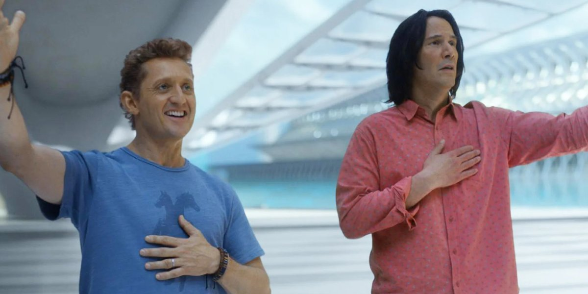 Alex Winter and Keanu Reeves in Bill and Ted Face the Music