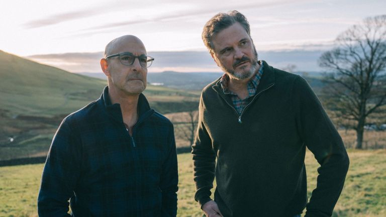 STANLEY TUCCI and COLIN FIRTH in SUPERNOVA (2020), directed by HARRY MACQUEEN