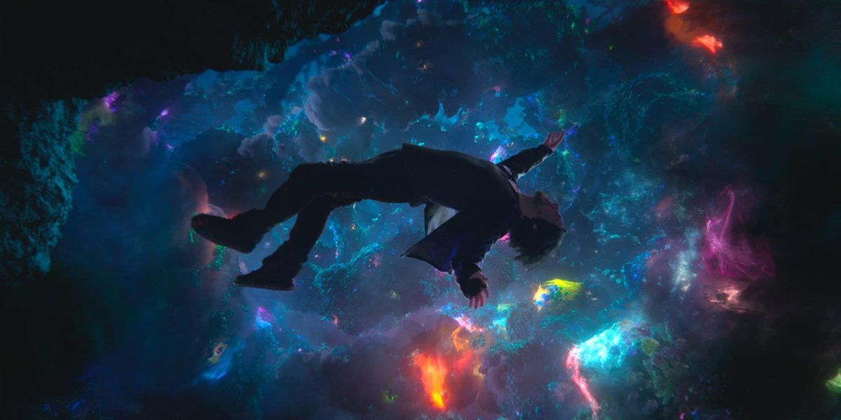 Doctor Strange floating in the multiverse