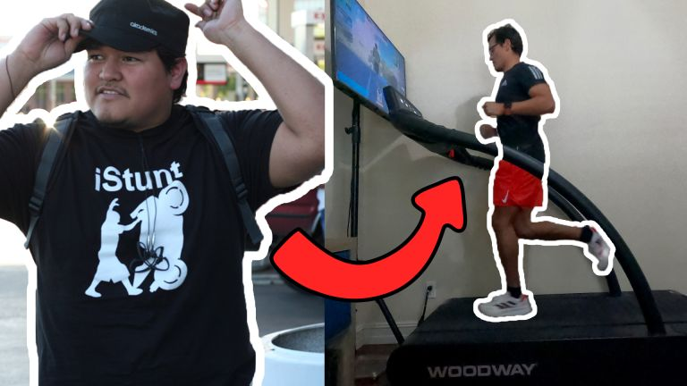 Zwift athlete Ivan Alonzo's before and after pictures depicting his weight loss results