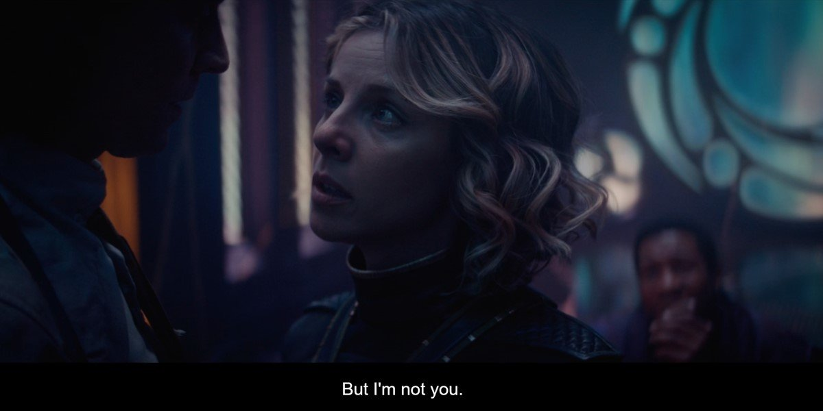 sylvie and loki hugging in the citadel in loki's season 1 finale