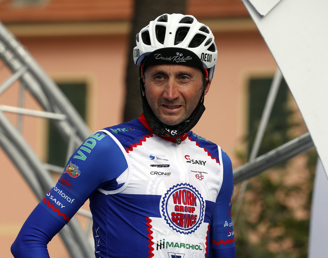 Davide Rebellin began his 2021 season at the Trofeo Laigeuglia despite being close to 50