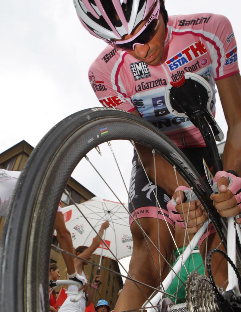 Alberto Contador, race leader, Giro d