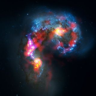 Combined view of the Antennae Galaxies