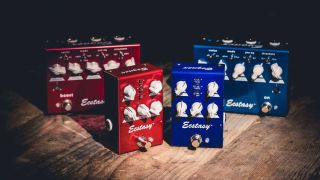 Luxus-Ästhetik verschiedenes Design 2019 professionell Bogner distills the Ecstasy into Red and Blue Mini pedals ...