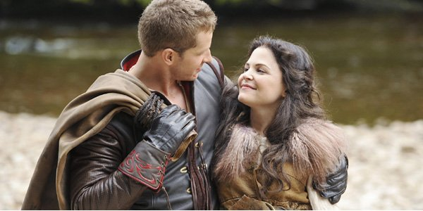 Once Upon a Time Charming and Snow look at each other Josh Dallas Ginnifer Goodwin ABC