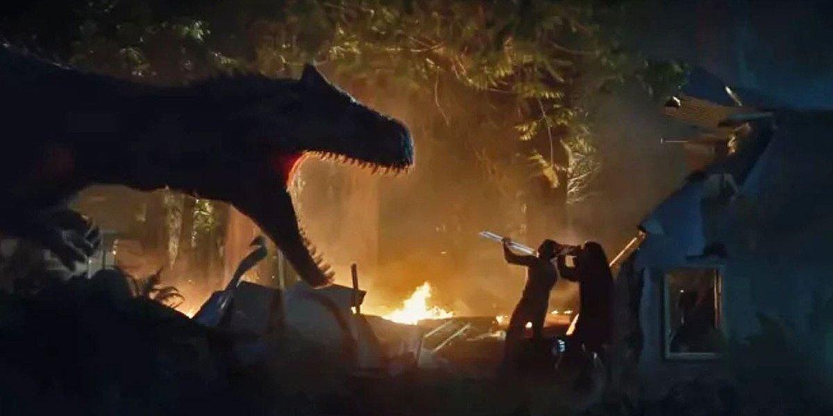 An allosaurus in Battle at Big Rock