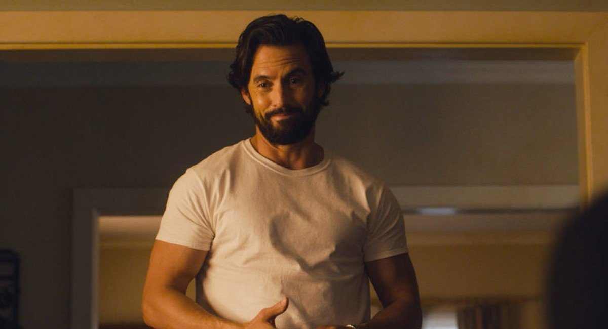 milo ventimiglia's jack in a t-shirt in this is us season 5