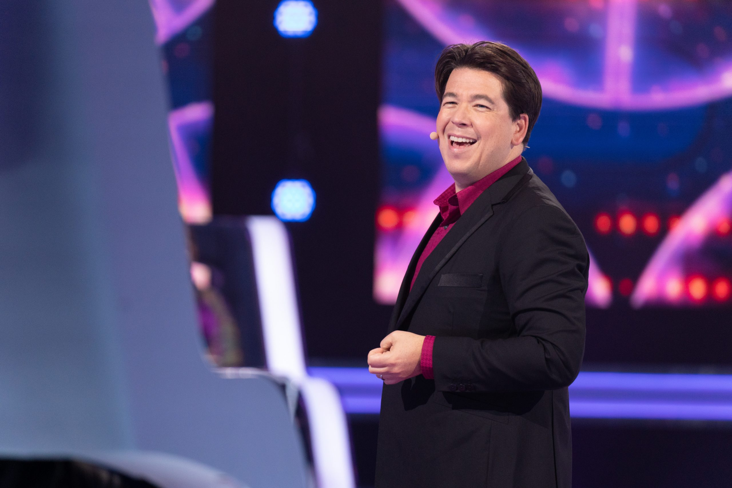 Michael McIntyre en el rodaje de The Wheel