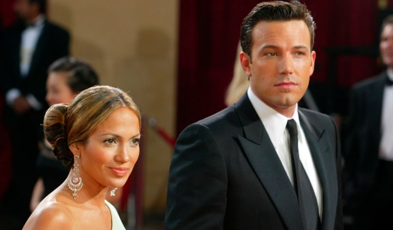 Getting back with an ex. Actors Ben Affleck and fiancee Jennifer Lopez attend the 75th Annual Academy Awards at the Kodak Theater on March 23, 2003 in Hollywood, California.