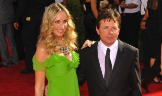 Michael J. Fox and his wife Tracy Pollan, photographed in 2009 in Los Angeles.