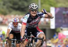 Andre Greipel (Lotto Belisol) celebrates his stage win