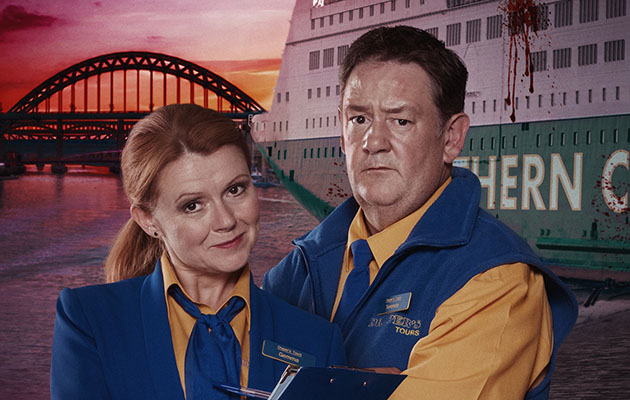 Sian Gibson and Johnny Vegas starring in Death on the Tyne