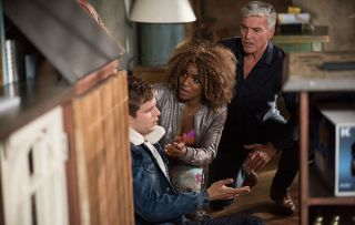 Nathan disturbs an intruder, they push him and he bangs his head in Hollyoaks