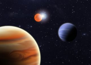Surprise Discovery: Two Planets, Two Stars, One System