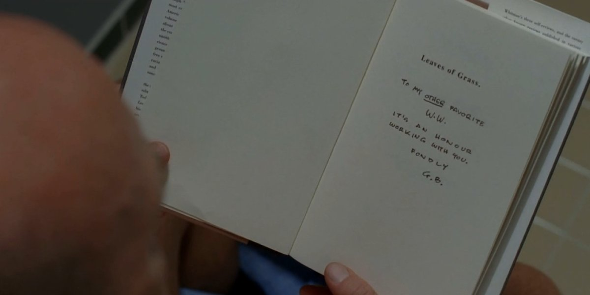 Hank reads Leaves of Grass on Breaking Bad