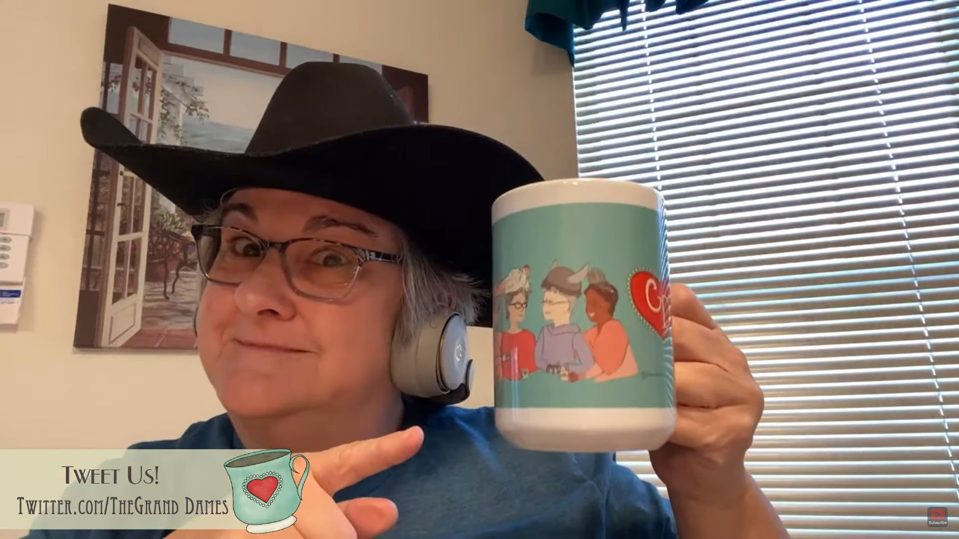 Dame Merrie mugs with a Grand Dames mug