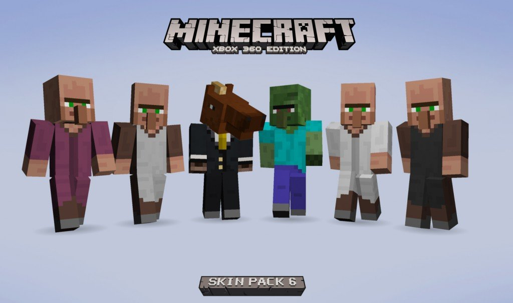 Minecraft Skin Pack 6 Released On Xbox 360 - CINEMABLEND