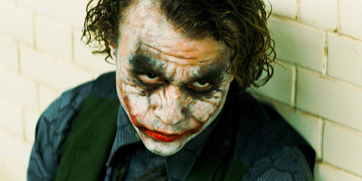 Heath Ledger as a Joker in Dark Knight