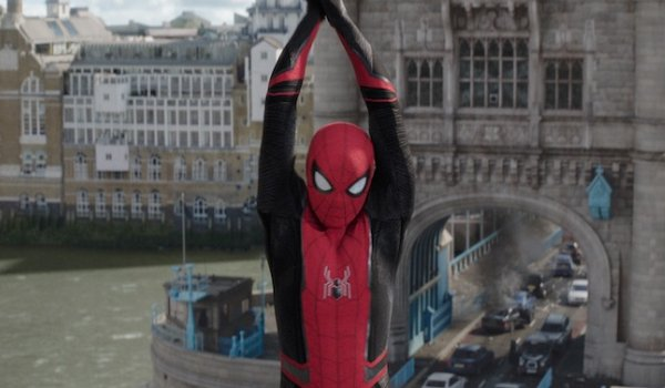 Spider-Man: Far From Home Spidey swings from the Tower Bridge
