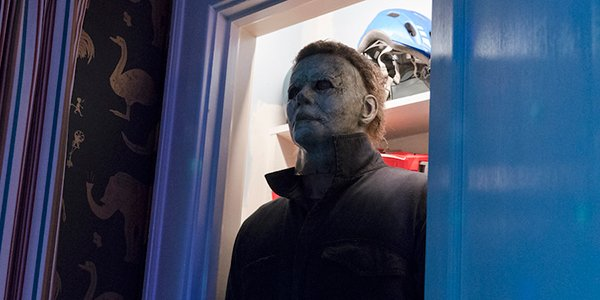 Michael Myers doing a poor job at hide and go seek