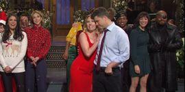Colin Jost Forced To Read Brutal Joke About New Wife Scarlett Johansson In Excellent Weekend Update Bit