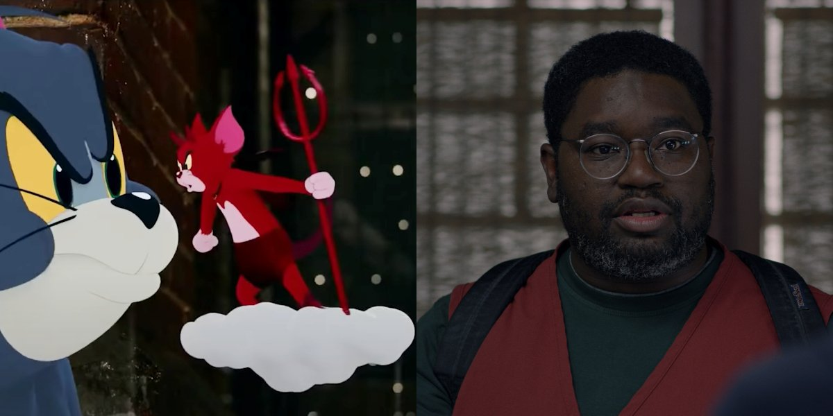 Tom's Shoulder Devil in Tom and Jerry; Lil Rel Howery in Bird Box