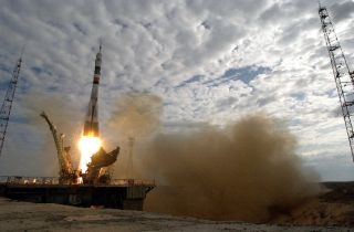 The Russian Soyuz rocket launches from the Baikonour Cosmodrome in Kazakhstan. Each of Space Adventures' spaceflight participants launched aboard a Soyuz rocket.