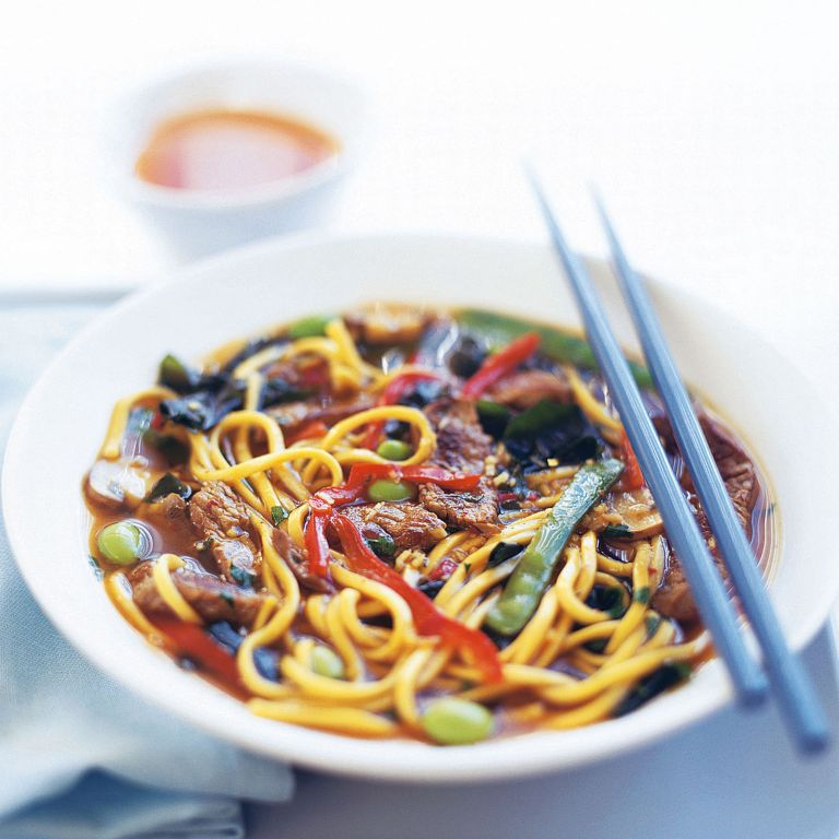 Beef and Ginger Broth with Noodles recipe-beef recipes-recipe ideas-new recipes-woman and home