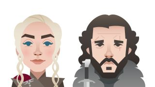 A pair of Game of Thrones emojis