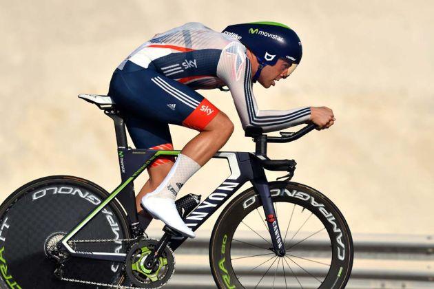 Alex Dowsett in the elite men's TT at the 2016 World Road Championships
