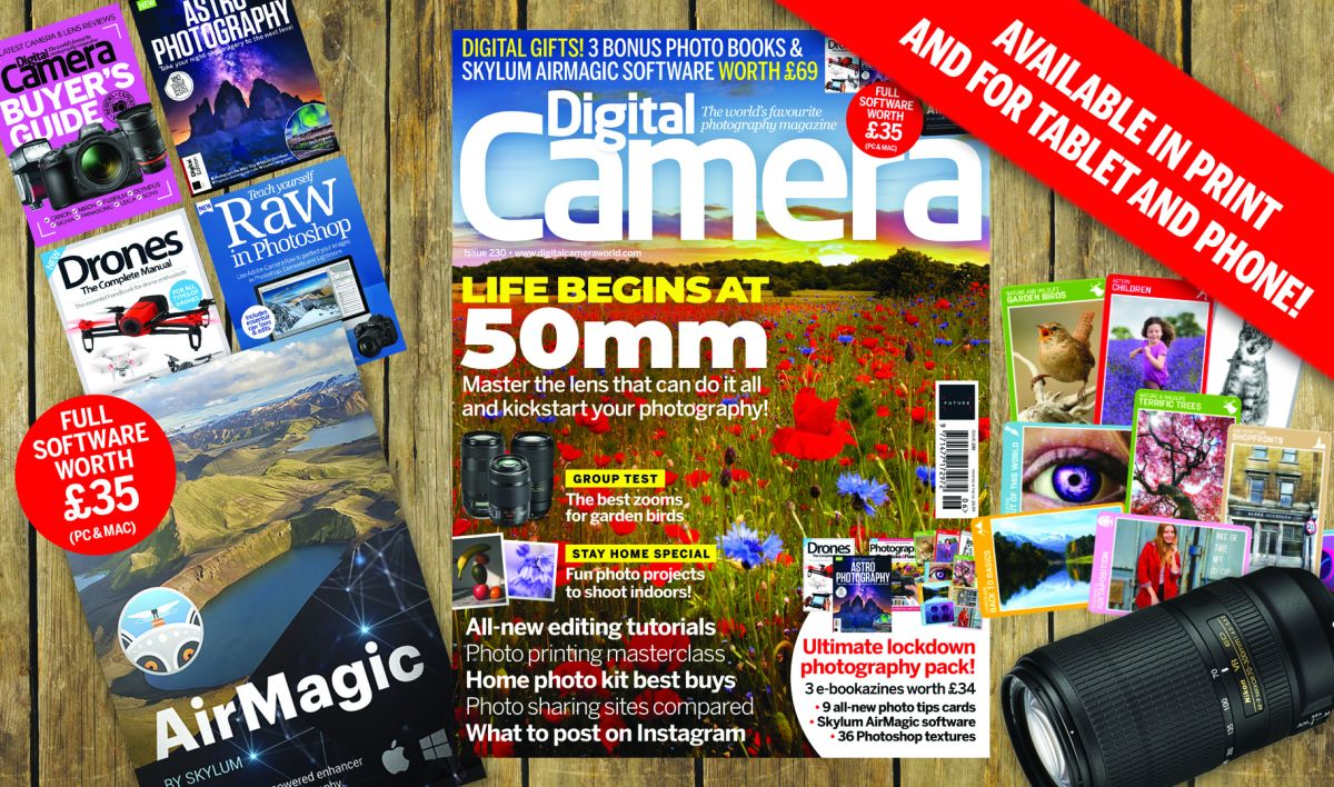 Gifts worth £69 with new issue of Digital Camera including Skylum AirMagic software