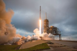 SpaceX Falcon 9 rocket soars skyward