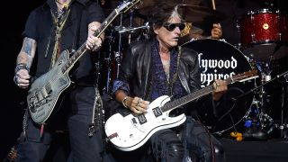 Joe Perry on stage in New York before his collapse