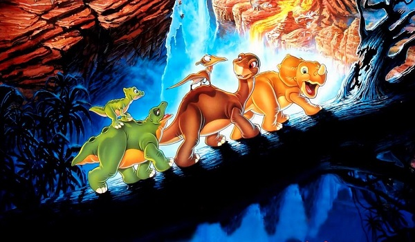 The Land Before Time Littlefoot and Friends log march